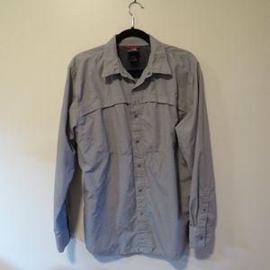 NORTH FACE Gray Shirt/Light-Weight Jacket